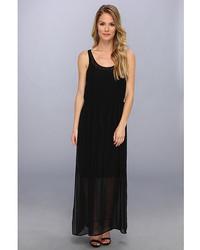 Pintuck maxi polyester chiffon dress medium 357526