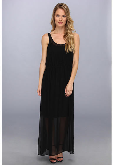 Pin tuck maxi dress