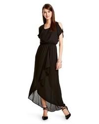 Mossimo Shoulder Cutout Chiffon Maxi Dress Tm
