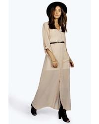 Boohoo Una Maxi Chiffon Shirt Dress   Where to buy & how to wear