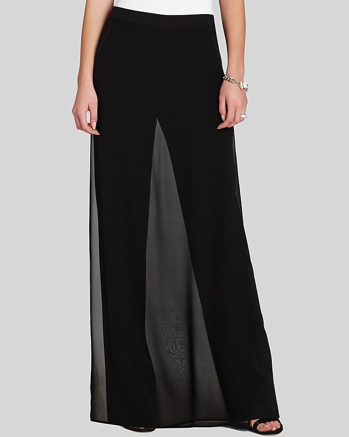 BCBGMAXAZRIA Maxi Skirt Pants Seth Silk | Where to buy & how to wear