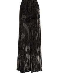 Etro Devor Chiffon Maxi Skirt Black