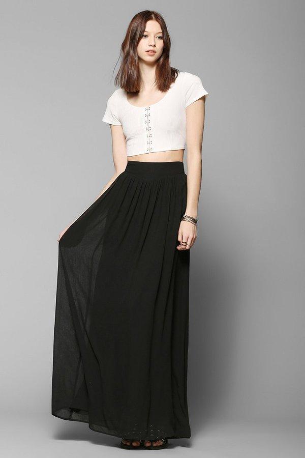 Pins And Needles Yoke Chiffon Maxi Skirt | Where to buy & how to wear