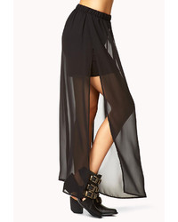 ... Forever 21 Side Slit Chiffon Maxi Skirt ...