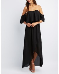 Charlotte Russe Off The Shoulder Maxi Wrap Dress