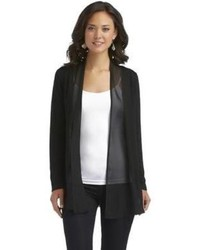 Black Chiffon Open Cardigans for Women | Women's Fashion