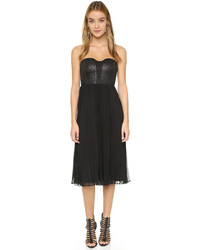 4.collective Pleated Chiffon Strapless Dress