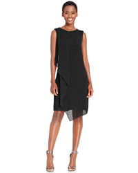 Style&co. Style Co Draped Chiffon Shift Dress Only At Macys