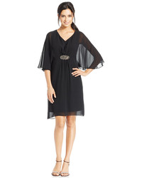 Style&co. Style Co Flutter Sleeve Chiffon Dress Only At Macys