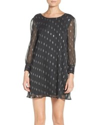 BB Dakota Warren Metallic Chiffon Shift Dress