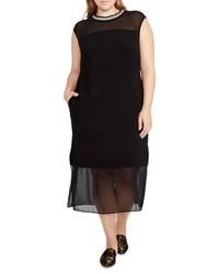 Rachel Roy Plus Size Rachel Rib Neck Shift Dress