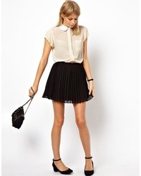 Mini skirt in pleats black medium 23647