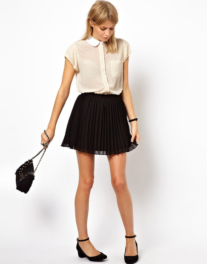 Asos Mini Skirt In Pleats Black | Where to buy & how to wear
