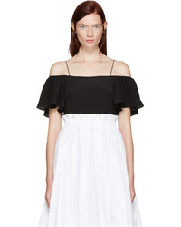 Fendi Black Off The Shoulder Tank Top