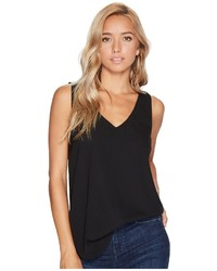 BB Dakota Jack By Sersen Crepe De Chine And Chiffon Tank Top Sleeveless
