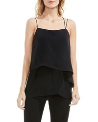 Vince Camuto Popover Mixed Media Tank