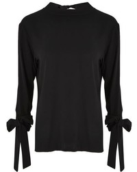 Topshop Tie Cuff Tunic Top