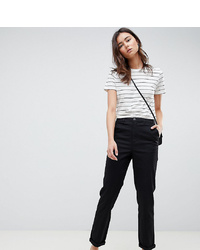 Asos Tall Asos Design Tall Chino Trousers In Black