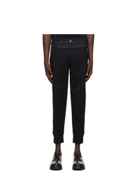 Neil Barrett Black Bonded Denim Lounge Pants