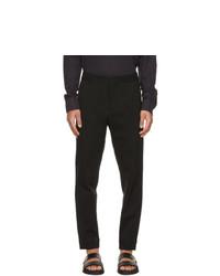 Ermenegildo Zegna Black Cotton Silk Lounge Pants