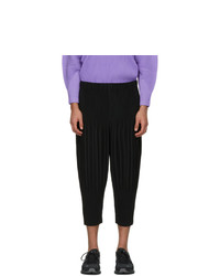 Homme Plissé Issey Miyake Black Cropped Basics Trousers