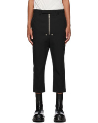 Rick Owens Black Cropped Bela Astaires Trousers