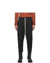 Rick Owens Black Cropped Bela Trousers