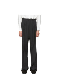 Random Identities Black Elasticized Waist Trousers