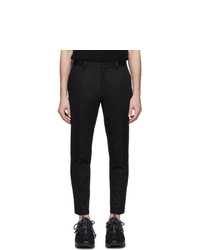 Dolce and Gabbana Black Gabardine Dna Trousers