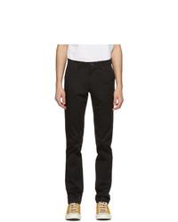 Lacoste Black Gabardine Slim Fit Chino Trousers