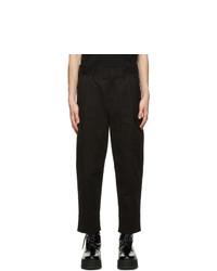Neil Barrett Black Gabardine Tapered Trousers