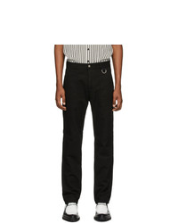AMI Alexandre Mattiussi Black Gabardine Work Trousers