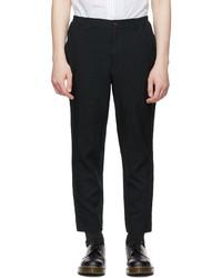 Comme des Garcons Homme Deux Black Gart Dyed Trousers