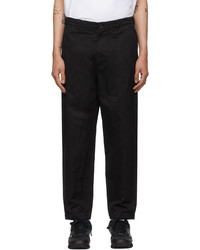 Comme des Garcons Homme Black Gart Dyed Trousers