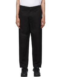 Comme des Garcons Homme Black Gart Dyed Trousers