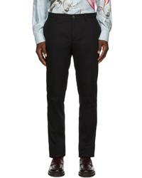 Etro Black Jacquard Paisley Trousers