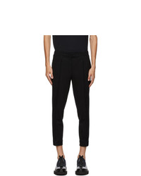 Neil Barrett Black Jersey Zip Trousers