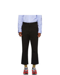 Junya Watanabe Black Nylon Cropped Trousers