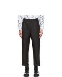 Neil Barrett Black One Pleat Loose Trousers