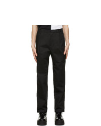 Neil Barrett Black One Pleat Trousers