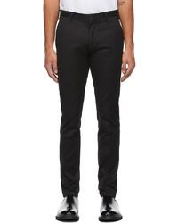 Paul Smith Black Organic Cotton Slim Fit Chino Trousers