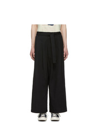 Naked and Famous Denim Black Oxford Trousers