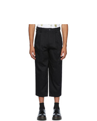 Goodfight Black Pinstripe Daily Drive Trousers
