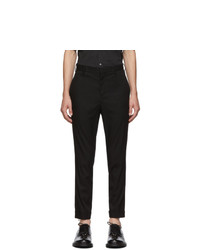 Neil Barrett Black Skinny Zip Trousers