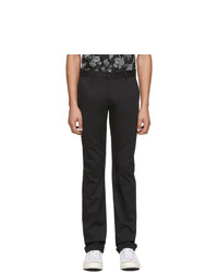 Naked and Famous Denim Black Stretch Twill Trousers