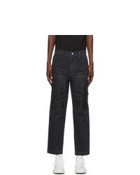Diesel Black Twill P Trent Trousers