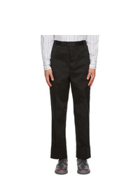 Thom Browne Black Twill Tipping Trousers