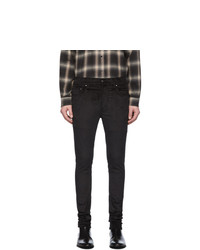 Amiri Black Velour Stack Trousers