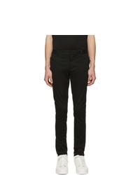 Balmain Black Washed Casual Trousers