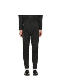 Balmain Black Zip Cargo Trousers
